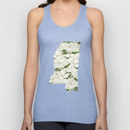 Mississippi in Flowers Unisex Tank Top