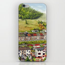 Cwm Parc, Treorchy, South Wales Valleys iPhone Skin