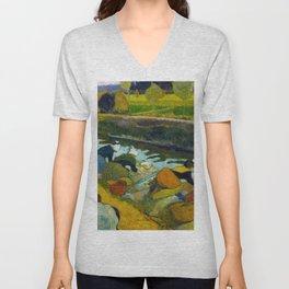 1888 - Gauguin - Washerwomen Unisex V-Neck