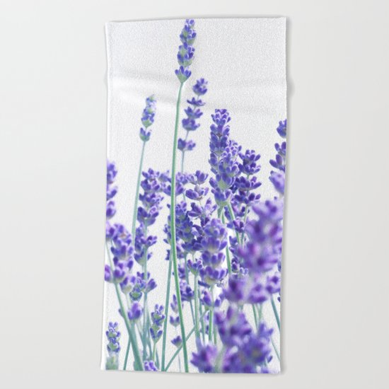 Fresh Lavender #1 #decor #art #society6 Beach Towel