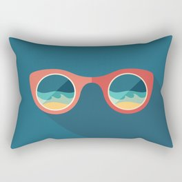 Sunglasses with Reflection of Sea Rectangular Pillow