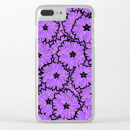 Purple floral pattern 2 Clear iPhone Case