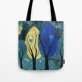 Night Family - Abstract family portrait in trees Tote Bag