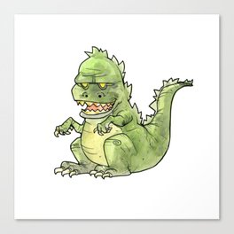 Little Zilla Canvas Print