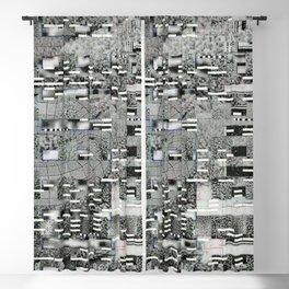 Highly Resolved Ghost (P/D3 Glitch Collage Studies) Blackout Curtain