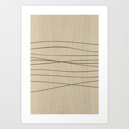 Smooth Stripes Art Print