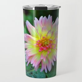Dahlia With Green Leaves Travel Mug