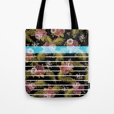 BOTANICAL STRIPES D01 Tote Bag