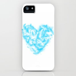 Feathers heart iPhone Case