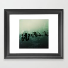 wait Framed Art Print