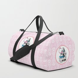 Alice in Wonderland | Alice playing Croquet with a Flamingo and Hedgehogs Duffle Bag