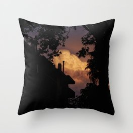 Explosive Sunset Throw Pillow
