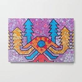 Colourful mosaic UFO Terrazzo Blobs Metal Print