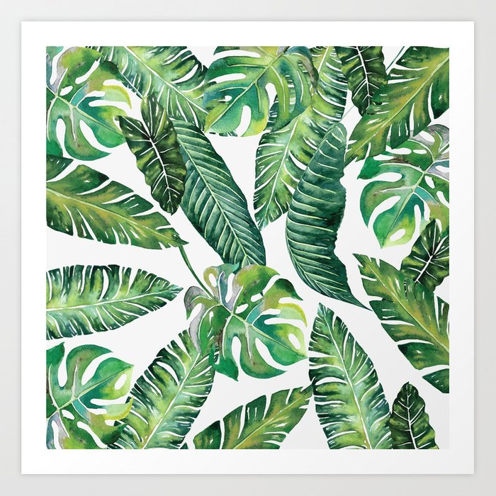 Jungle Leaves, Banana, Monstera #society6 Kunstdrucke