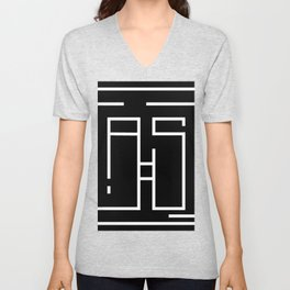 Initials A and S Unisex V-Neck