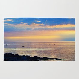 Sparkling Sunset Seascape Rug