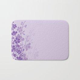 Delicate Purple Flower Bath Mat