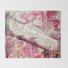Broadway sign New York City Throw Blanket