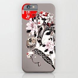 Beautiful Japanese Geisha Girl iPhone Case
