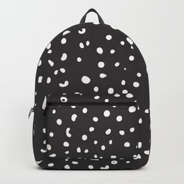 7-1011-0n-P1, White rounded shapes and dots, big size, Backpack
