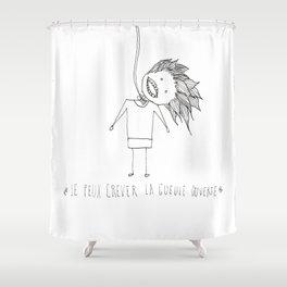 Crazy mum  Shower Curtain