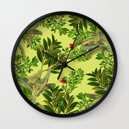 Leaves in Summer Wall Clock
