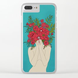 Blooming Red Clear iPhone Case
