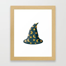 Magical Wizard's Hat with Stars and Moons Framed Art Print