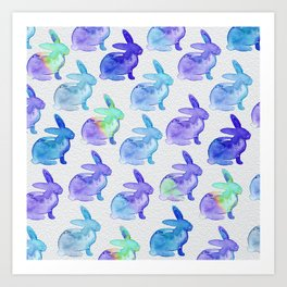 Watercolor Bunnies 1C by Kathy Morton Stanion Art Print