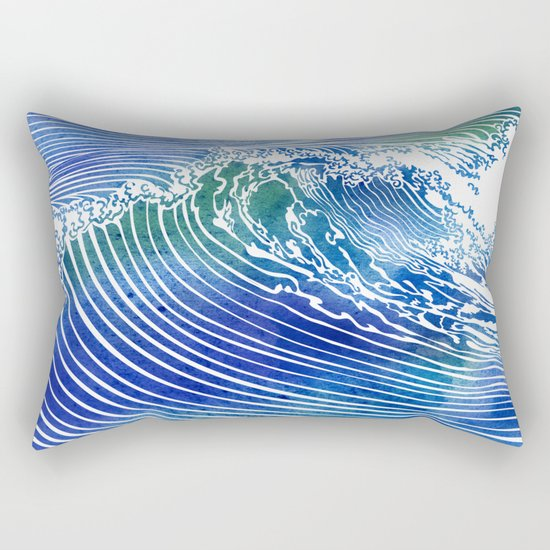 Atlantic Waves Rectangular Pillow