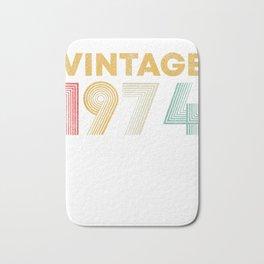 45th Birthday Gift Idea Vintage 1974 T-Shirt Men Women Bath Mat