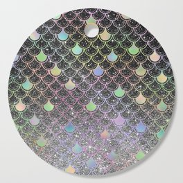 Mermaid scales ombre glitter #2 Cutting Board