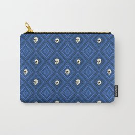 Funny little Skull pattern, blue Carry-All Pouch