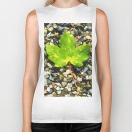 Green maple leaves Biker Tank