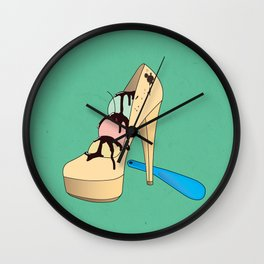 Ice Creamy Shoes Wall Clock
