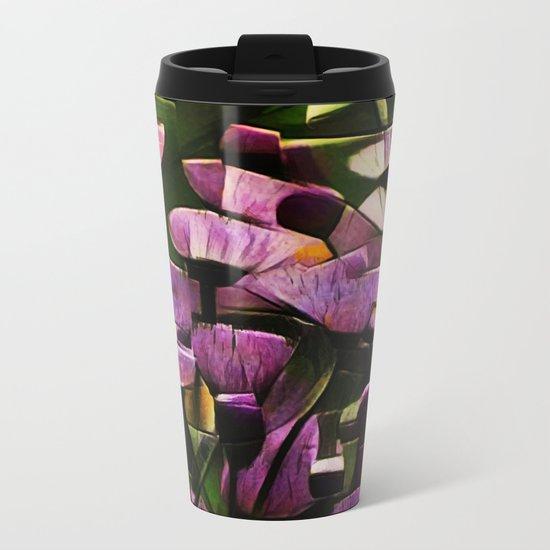 Abstract Wldflowers Metal Travel Mug