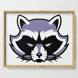 Racoon Guardian Protector Serving Tray