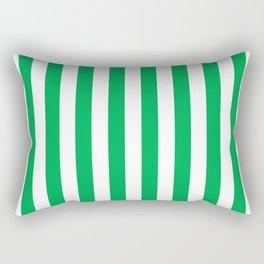 Vertical Green Stripes Rectangular Pillow