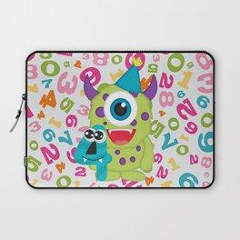 Birthday Monsters 4th Birthday Laptop Sleeve