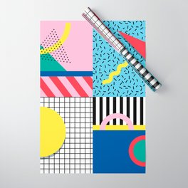 Memphis Party Wrapping Paper
