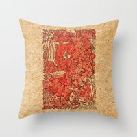 wood Throw Pillows featuring - wood - by Magdalla Del Fresto