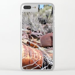 Old Tin Cans Clear iPhone Case