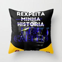 Respeita Meu Cabelo Throw Pillow