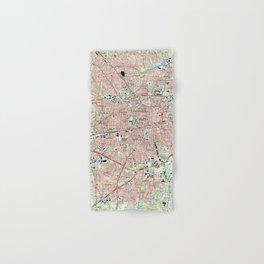 Greensboro North Carolina Map (1997) Hand & Bath Towel
