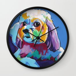 Lhasa Apso Pet Portrait Wall Clock