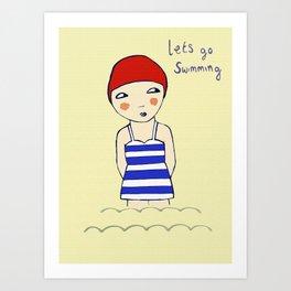 Lets go Swimming Art Print
