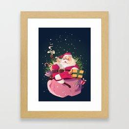 relax santa Framed Art Print