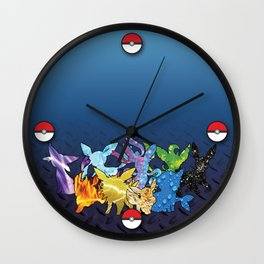 """The Dream Team"" - X & Y Eeveelutions Wall Clock"