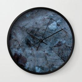 Transparent Blue Wall Clock