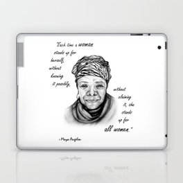 Feminist Art Maya Angelou Quote Laptop & iPad Skin